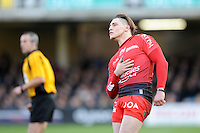 James O'Connor of RC Toulon watches his conversion attempt during the European Rugby Champions Cup match between Bath Rugby and RC Toulon - 23/01/2016 - The Recreation Ground, Bath Mandatory Credit: Rob Munro/Stewart Communications