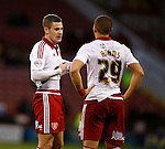 Paul Coutts of Sheffield Utd talks to Che Adams of Sheffield Utd - FA Cup Second round - Sheffield Utd vs Oldham Athletic - Bramall Lane Stadium - Sheffield - England - 5th December 2015 - Picture Simon Bellis/Sportimage