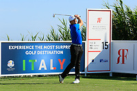 Alessandro Tadini (ITA) during previews ahead of the Rocco Forte Sicilian Open played at Verdura Resort, Agrigento, Sicily, Italy 08/05/2018.<br /> Picture: Golffile | Phil Inglis<br /> <br /> <br /> All photo usage must carry mandatory copyright credit (&copy; Golffile | Phil Inglis)