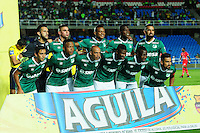CALI -COLOMBIA-21-08-2016. Jugadores del Deportivo Cali posan parapara una foto previo al encuentro con Patriotas FC durante partido por la fecha 9 de la Liga Águila II 2016 jugado en el estadio Pascual Guerrero de Cali./ Players of Deportivo Cali pose toa photo prior a mtcha against Patriotas FC during match for the date 9 of the Aguila League II 2016 played at Pascual Guerrero stadium in Cali. Photo: VizzorImage/ NR / Cont
