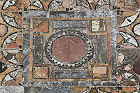 Opus sectile-floor in room C, Domus di Amore e Psiche (House of Cupid and Psyche), 2nd century AD, Ostia Antica, Italy. Picture by Manuel Cohen