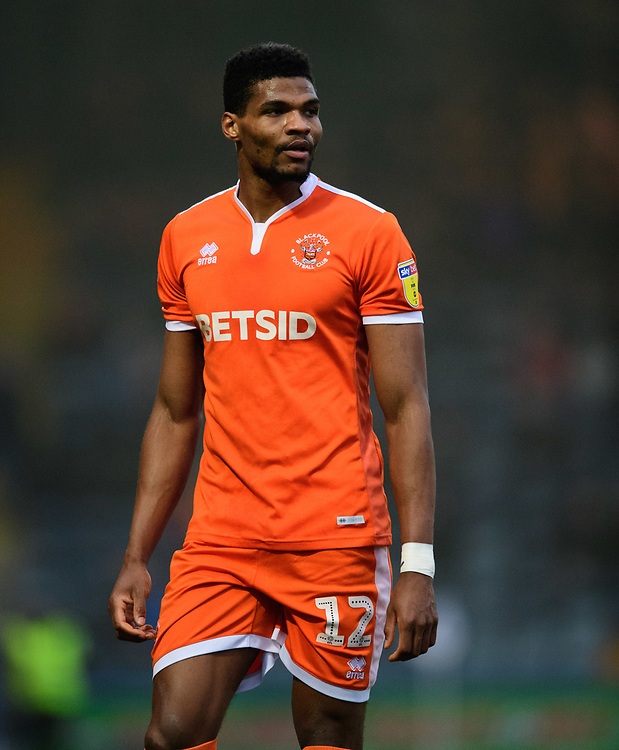 Blackpool's Michael Nottingham<br /> <br /> Photographer Chris Vaughan/CameraSport<br /> <br /> The EFL Sky Bet League One - Rochdale v Blackpool - Wednesday 26th December 2018 - Spotland Stadium - Rochdale<br /> <br /> World Copyright © 2018 CameraSport. All rights reserved. 43 Linden Ave. Countesthorpe. Leicester. England. LE8 5PG - Tel: +44 (0) 116 277 4147 - admin@camerasport.com - www.camerasport.com