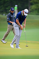 Justin Rose (GBR) reacts to barely missing a putt on 3 during round 4 of the Shell Houston Open, Golf Club of Houston, Houston, Texas, USA. 4/2/2017.<br /> Picture: Golffile | Ken Murray<br /> <br /> <br /> All photo usage must carry mandatory copyright credit (&copy; Golffile | Ken Murray)