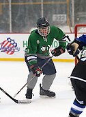 Notre Dame Fighting Irish of Batavia forward Larry Infantino (6) during a varsity ice hockey game against the Brockport Blue Devils during the Section V Rivalry portion of the Frozen Frontier outdoor hockey event at Frontier Field on December 22, 2013 in Rochester, New York.  (Copyright Mike Janes Photography)
