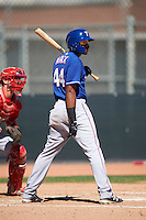 Texas Rangers Marcus Mack (44) during an Instructional League game against the Cincinnati Reds on October 4, 2016 at the Surprise Stadium Complex in Surprise, Arizona.  (Mike Janes/Four Seam Images)