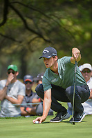 Thomas Pieters (BEL) lines up his putt on 11 during round 2 of the World Golf Championships, Mexico, Club De Golf Chapultepec, Mexico City, Mexico. 3/2/2018.<br /> Picture: Golffile | Ken Murray<br /> <br /> <br /> All photo usage must carry mandatory copyright credit (&copy; Golffile | Ken Murray)