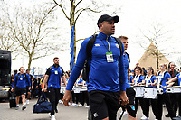 Jonathan Joseph and the rest of the Bath Rugby team arrive at Twickenham. Gallagher Premiership match, The Clash, between Bath Rugby and Bristol Rugby on April 6, 2019 at Twickenham Stadium in London, England. Photo by: Patrick Khachfe / Onside Images