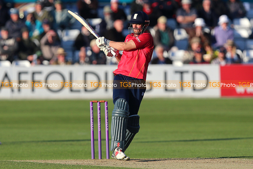 Alastair Cook hits four runs for Essex during Essex Eagles vs Middlesex, Royal London One-Day Cup Cricket at The Cloudfm County Ground on 12th May 2017