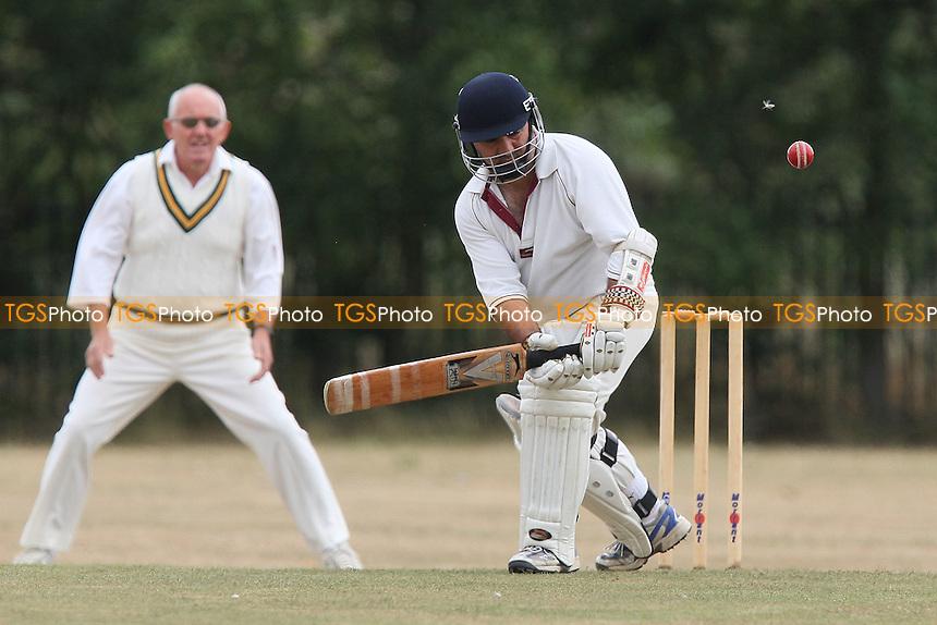 J Sarro in batting action for Rainham - Rainham CC vs Springfield CC 3rd XI - Mid-Essex Cricket League - 17/07/10 - MANDATORY CREDIT: Gavin Ellis/TGSPHOTO - Self billing applies where appropriate - Tel: 0845 094 6026