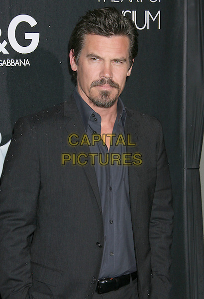 JOSH BROLIN.D&G Flagship Boutique Opening Benefiting The Art of Elysium held at the Dolce & Gabana Boutique on Roberston Blvd, Beverly Hills, California, USA..December 15th, 2008.half length blue shirt grey gray suit jacket goatee facial hair .CAP/ADM/MJ.©Michael Jade/AdMedia/Capital Pictures.