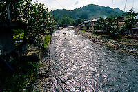 Indonesia, Sumatra. Bukit Lawang. Coming from Gunung Leuser national park, Bohorok river flows through Bukit Lawang and is the nerve of the town.