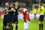 Nederland,Alkmaar, 8 december  2012.Eredivisie.Seizoen 2012/2013.AZ_Willem II.Adam Maher van AZ baalt na het 0-0 gelijkspel tegen Willem II