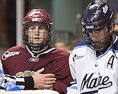Matt Greene, Steve Mullin - The Boston College Eagles defeated the University of Maine Black Bears 4-1 in the Hockey East Semi-Final at the TD Banknorth Garden on Friday, March 17, 2006.