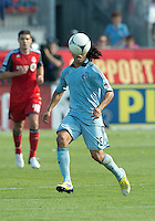 August 18, 2012: Sporting KC midfielder Roger Espinoza #15 in action during an MLS game between Toronto FC and Sporting Kansas City at BMO Field in Toronto, Ontario Canada..Sporting Kansas City won 1-0.