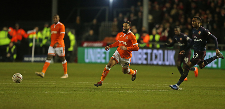Blackpool's Liam Feeney<br /> <br /> Photographer Stephen White/CameraSport<br /> <br /> Emirates FA Cup Third Round - Blackpool v Arsenal - Saturday 5th January 2019 - Bloomfield Road - Blackpool<br />  <br /> World Copyright &copy; 2019 CameraSport. All rights reserved. 43 Linden Ave. Countesthorpe. Leicester. England. LE8 5PG - Tel: +44 (0) 116 277 4147 - admin@camerasport.com - www.camerasport.com