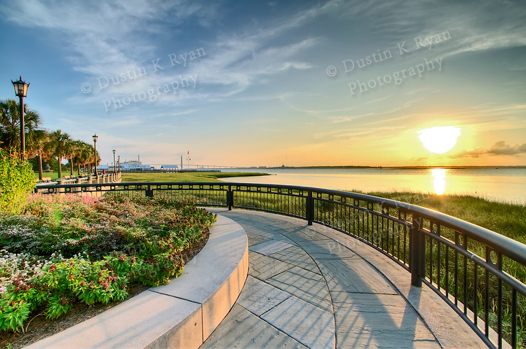 Charleston Waterfront Park Sunrise Dustin K Ryan Photography