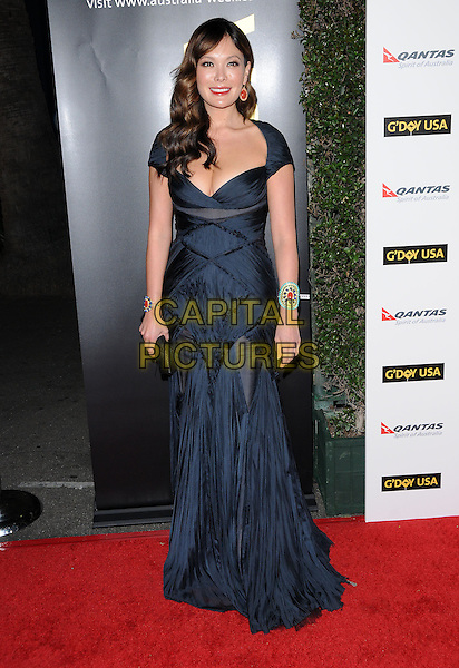 LINDSAY PRICE.at G'Day USA LA Black Tie Gala held at The Hollywood Palladium in Hollywood, California, USA, January 22nd, 2011..full length navy blue black dress long maxi clutch bag cuff bracelet .CAP/RKE/DVS.©DVS/RockinExposures/Capital Pictures.