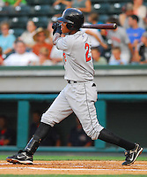 10 Aug 2007: Pedro Florimon of the Delmarva Shorebirds, Class A South Atlantic League affiliate of the Baltimore Orioles, in a game against the Greenville Drive at West End Field in Greenville, S.C. Photo by:  Tom Priddy/Four Seam Images