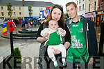 watching the Euro 2016 Match on the Big Screen in the Square Tralee of  Ireland v Belgum on Saturday were l-r  Celene Maloney, Lucy Quain and Christopher Quain
