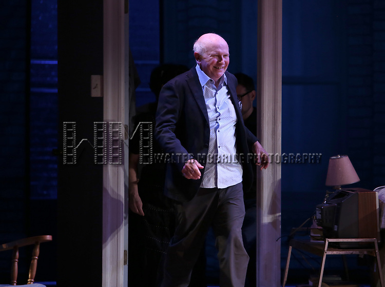 "Terrence McNally during the Opening Night Curtain Call for ""Frankie and Johnny in the Clair de Lune"" at the Broadhurst Theatre on May 29, 2019  in New York City."