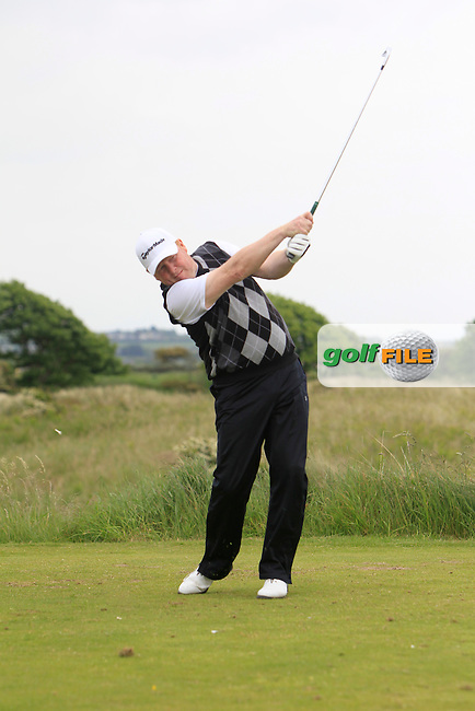 Jim Carvill (Banbridge) on the 15th tee during Round 2 of the East of Ireland in the Co. Louth Golf Club at Baltray on Sunday 1st June 2014.<br /> Picture:  Thos Caffrey / www.golffile.ie