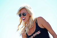 Sept. 22, 2013; Ennis, TX, USA: NHRA funny car driver Courtney Force during the Fall Nationals at the Texas Motorplex. Mandatory Credit: Mark J. Rebilas-