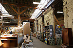 The warehouse at Rebuilding Exchange, a Chicago non-profit that creates a market for reclaimed building materials, Monday, Sept. 26, 2016. (DePaul University/Jeff Carrion)