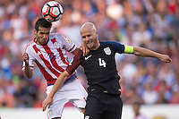 Action photo during the match United States vs Paraguay, Corresponding to  Group -A- of the America Cup Centenary 2016 at Lincoln Financial Field Stadium.<br /> <br /> Foto de accion durante el partido Estados Unidos vs Paraguay, Correspondiente al Grupo -A- de la Copa America Centenario 2016 en el Estadio Lincoln Financial Field , en la foto: (i-d) Celso Ortoz de Paraguay y Michael Bradley de USA<br />  <br /> <br /> 11/06/2016/MEXSPORT/Osvaldo Aguilar.
