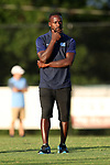 BROWNS SUMMIT, NC - SEPTEMBER 16: UNC assistant coach Boyd Okwuonu. The University of North Carolina Tar Heels hosted the Duke University Blue Devils on September 16, 2017 at Macpherson Stadium in Browns Summit, NC in a Division I college soccer game. UNC won the game 2-1.