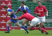 24/05/2002 (Friday).Sport -Rugby Union - London Sevens.Wales vs Russia[Mandatory Credit, Peter Spurier/ Intersport Images].