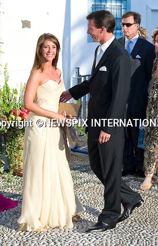 """Princess Marie and Prince Joachim_.The Wedding of Prince Nikolaos and Tatiana Blatnik attended by many members of European Royalty at St Nikolaos Church on the Island of Spetses_Grecce_24/08/2010.Mandatory Credit Photo: ©DIAS-NEWSPIX INTERNATIONAL..**ALL FEES PAYABLE TO: """"NEWSPIX INTERNATIONAL""""**..IMMEDIATE CONFIRMATION OF USAGE REQUIRED:.Newspix International, 31 Chinnery Hill, Bishop's Stortford, ENGLAND CM23 3PS.Tel:+441279 324672  ; Fax: +441279656877.Mobile:  07775681153.e-mail: info@newspixinternational.co.uk"""