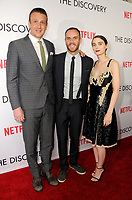 "29 March 2017 - Los Angeles, California - Jason Segel, Charlie McDowell, Rooney Mara.  Premiere Of Netflix's ""The Discovery"" held at The Vista Theater in Los Angeles. Photo Credit: Birdie Thompson/AdMedia"