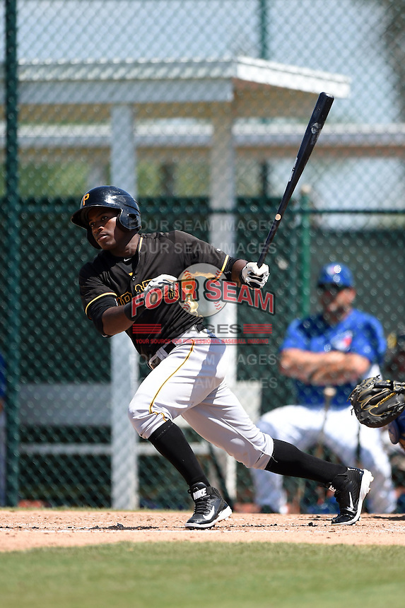 Pittsburgh Pirates Tito Polo (67) during a minor league spring training game against the Toronto Blue Jays on March 21, 2015 at Pirate City in Bradenton, Florida.  (Mike Janes/Four Seam Images)