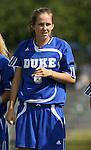 23 September 2007: Duke's Kelly Hathorn. The Duke University Blue Devils defeated the Ohio State University Buckeyes 2-1 at Koskinen Stadium in Durham, North Carolina in an NCAA Division I Women's Soccer game, and part of the annual Duke Adidas Classic tournament.