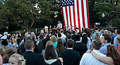 United States President Barack Obama makes remarks as he hosts the Congressional Picnic on the South Lawn of the White House in Washington, D.C. on September 17,2014.<br /> Credit: Dennis Brack / Pool via CNP