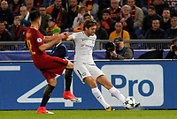 Chelsea s Marcos Alonso, right, is challenged by Roma s Stephan El Shaarawy during the Champions League Group C soccer match between Roma and Chelsea at Rome's Olympic stadium, October 31, 2017.<br /> UPDATE IMAGES PRESS/Riccardo De Luca