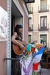 Alicia Ramos during the Festival de Musica Balconica-Musica Balconica Festival in Malasana street. June 29,2012. (ALTERPHOTOS/Alconada)