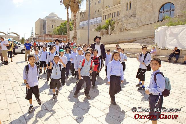 School Group, The Western Wall, Jerusalem
