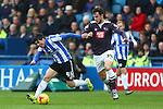 Wednesday's Fernando Forestieri battles George Thorne of Derby - Sheffield Wednesday vs Derby County - Skybet Championship - Hillsborough - Sheffield - 06/12/2015 Pic Philip Oldham/SportImage