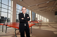Pan Shiyi, founder of SOHO China and billionaire developer, stands for a photograph at his new office in Beijing, China on 15  February, 2008.