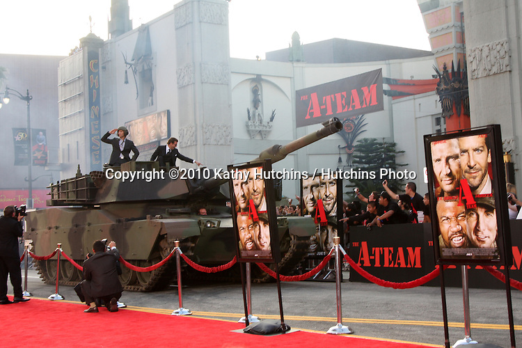 "Sharlto Copley & Bradley Cooper .arrives at the ""A-Team""  Premiere.Grauman's Chinese Theater.Los Angeles, CA.June 3, 2010.©2010 Kathy Hutchins / Hutchins Photo.."