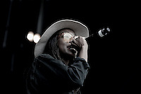 Little Simz (Simbi Ajikawo) performs during The New Look Wireless Music Festival at Finsbury Park, London, England on Friday 03 July 2015. Photo by Andy Rowland.