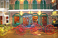 Antique carriages display Museum of Commerce Historic Pensacola Village Pensacola Florida