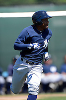 New York Yankees outfielder Ericson Leonora #62 during a minor league Spring Training game against the Philadelphia Phillies at Carpenter Complex on March 21, 2013 in Clearwater, Florida.  (Mike Janes/Four Seam Images)