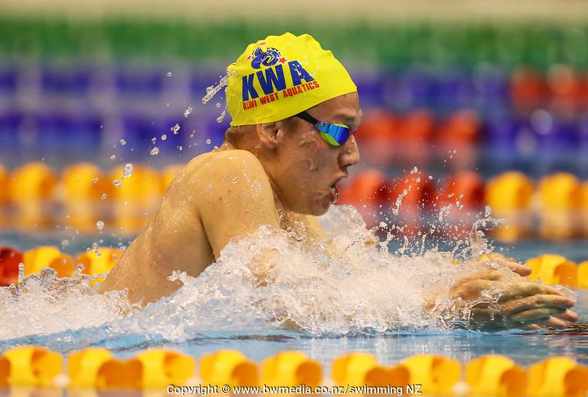 Luan Grobbelaar. Swimming New Zealand Aon National Age Group Championships, Wellington Regional Aquatic Centre, Wellington, New Zealand, Wednesday 17 April 2019. Photo: Simon Watts/www.bwmedia.co.nz