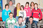 Ballybunion Youth Club: Pictured at a meeting of Ballybunion Youth Club at the community centre on Friday night last were in front Donnacha Griffin, Kieran Joihnson & Dale O'Sullivan. Back : Debbie McDonald, Paddy Holly, Jessica Keane, Ciara McDonald, Amanda Collins, Sarah Keane & Molly Purtill.....Ref Owen