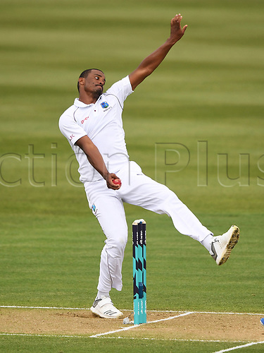 10th December 2017, Seddon Park, Hamilton, New Zealand; International Test Cricket, 2nd Test, Day 2, New Zealand versus West Indies;  Shannon Gabriel bowling