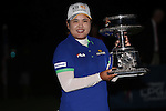 Inbee Park holds the LPGA Championship Trophy at the LPGA Championship 2014 Sponsored By Wegmans at Monroe Golf Club in Pittsford, New York on August 17, 2014