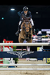 Ping-Yang Hsieh of Chinese Taipei riding Just Energie competes in the Masters One DBS during the Longines Masters of Hong Kong at AsiaWorld-Expo on 11 February 2018, in Hong Kong, Hong Kong. Photo by Diego Gonzalez / Power Sport Images