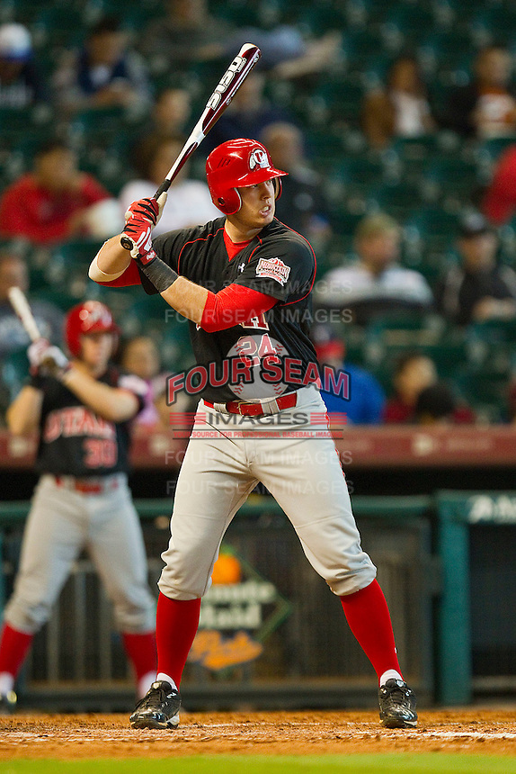 C.J. Cron #24 of the Utah Utes at bat against the Baylor Bears at Minute Maid Park on March 5, 2011 in Houston, Texas.  Photo by Brian Westerholt / Four Seam Images